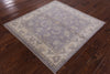 Square Hand Knotted Wool Peshawar Chobi Rug 4 X 4 - Golden Nile
