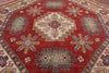 Hand Knotted 7' Octagon Super Kazak Area Rug - Golden Nile