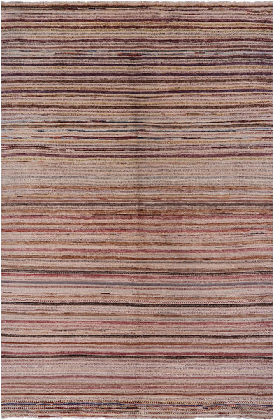 "Gabbeh Hand Knotted Wool Rug - 5' 10"" X 8' 10"" - Golden Nile"