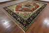 Heriz Serapi Hand Knotted Red & Black Border 10 X 14 Rug - Golden Nile