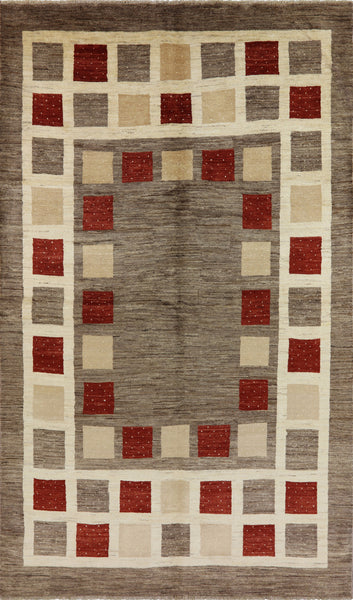 Gabbeh Collection Oriental Double Knotted 7 x 11 Rug - Golden Nile