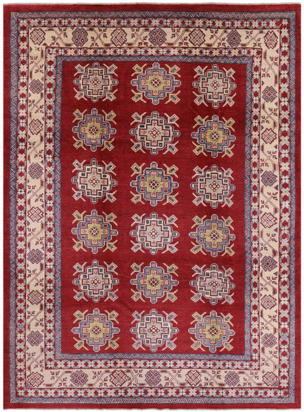 "Kazak Hand KNotted Rug - 8' 8"" X 11' 7"" - Golden Nile"