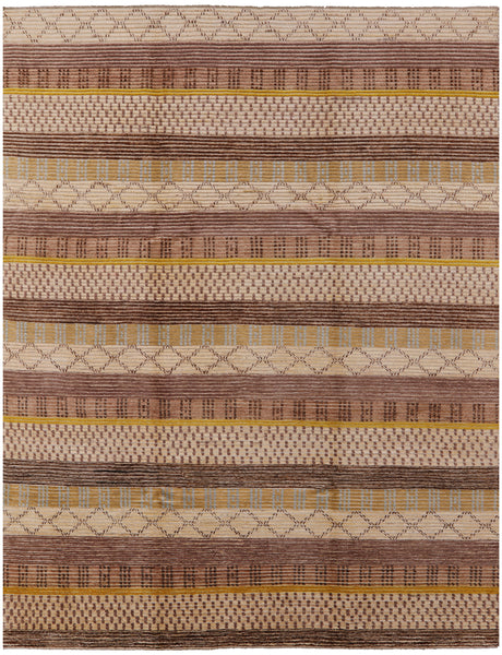 8 x 10 Gabbeh Hand Knotted Rug - Golden Nile