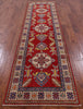 3 x 11 Runner Hand Knotted Kazak Rug - Golden Nile