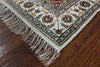 3 X 12 Runner Pure Silk Kashan Islimi Design Rug - Golden Nile