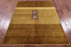 "Persian Gabbeh Hand Knotted Wool Area Rug - 4' 8"" X 6' 1"" - Golden Nile"