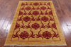 "Gabbeh Hand Knotted Area Rug - 4' 3"" X 5' 10"" - Golden Nile"