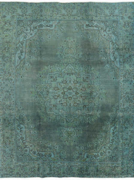 Overdyed 10 X 13 Hand Knotted Area Rug - Golden Nile