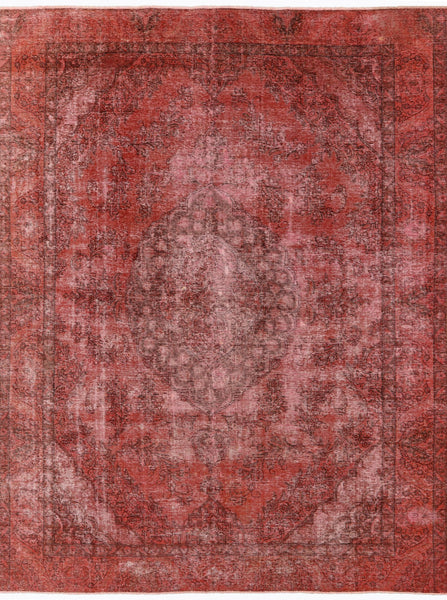 Overdyed 9 X 12 Oriental Hand Knotted Rug - Golden Nile