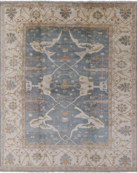 "Hand Knotted Oriental Oushak Rug - 8' 2"" X 10' 1"" - Golden Nile"
