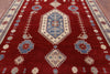 "Kazak Hand Knotted Area Rug - 8' 1"" X 9' 10"" - Golden Nile"
