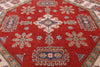 Super Kazak Hand Knotted 8' Octagon Rug - Golden Nile