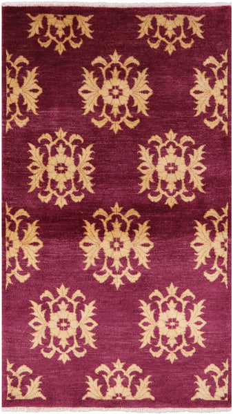 "Lori Buft Gabbeh Wool Area Rug - 3' 1"" X 5' 3"" - Golden Nile"