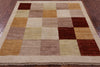 4 X 4 Square Multicolored Gabbeh Wool Area Rug - Golden Nile