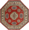 Super Kazak Hand Knotted 7' Octagon Area Rug - Golden Nile