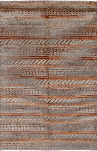 "Gabbeh Hand Knotted Rug - 5' 10"" X 9' 1"" - Golden Nile"