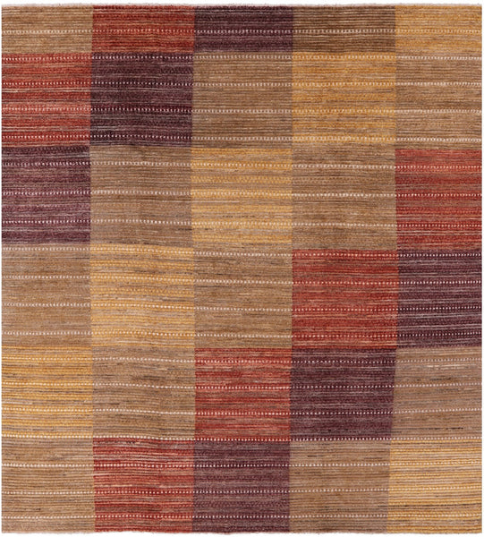 "Gabbeh Hand Knotted Rug - 10' 1"" X 10' 10"" - Golden Nile"