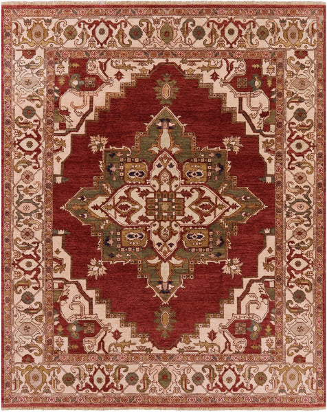 "Fine Serapi Hand Knotted Area Rug - 8' 5"" X 10' 5'' - Golden Nile"