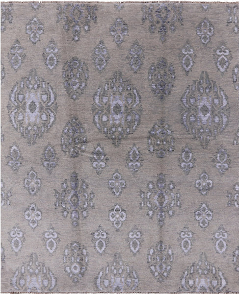 "Oushak Hand Knotted Wool & Silk Rug - 8' X 9' 10"" - Golden Nile"