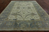 8 X 10 Fish Design Oushak Handmade Rug - Golden Nile