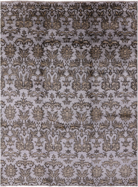 "Silk Hand Knotted Area Rug - 9' X 11' 8"" - Golden Nile"