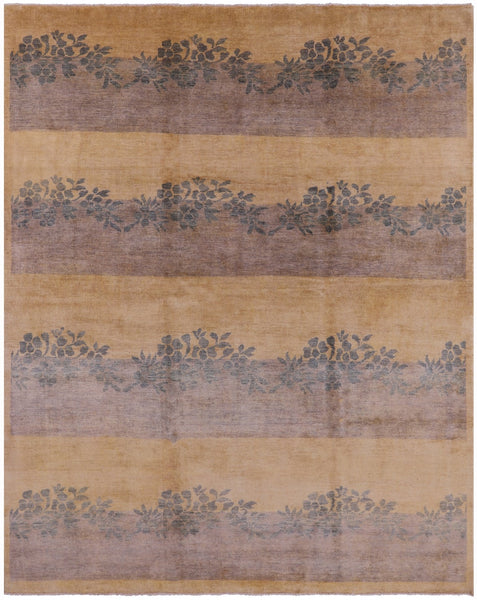 "Gabbeh Hand Knotted Wool Rug - 8' 3"" X 10' 3"" - Golden Nile"