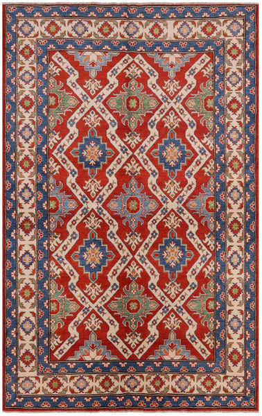 "Kazak Hand Knotted Rug - 5' 10"" X 9' 2"" - Golden Nile"