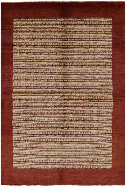"Gabbeh Hand KNotted Rug - 6' 7"" X 9' 8"" - Golden Nile"