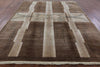 Brown & Ivory Gabbeh Hand Knotted Wool Area Rug 8 X 11 - Golden Nile