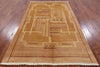 "Gabbeh Hand Knotted Wool Area Rug - 5' 2"" X 8' 1"" - Golden Nile"