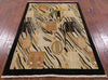 "Gabbeh Handmade Wool Area Rug - 4' 2"" X 6' 3"" - Golden Nile"