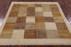 "Square Gabbeh Area Rug - 5' X 5' 1"" - Golden Nile"
