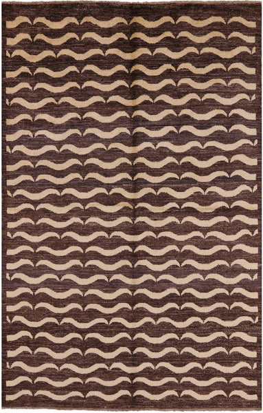 "Gabbeh Hand Knotted Wool Rug - 5' 6"" X 8' 4"" - Golden Nile"