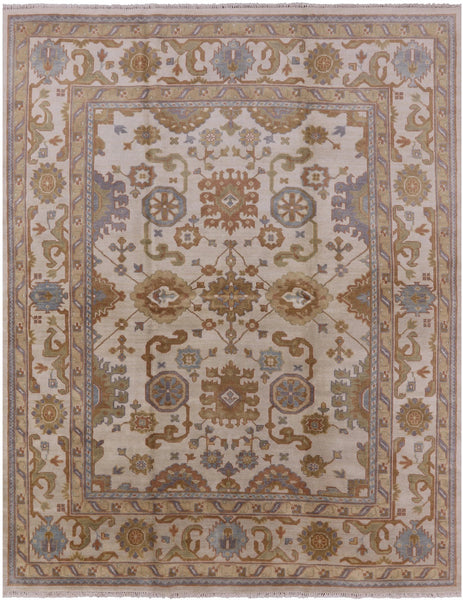 "Oushak Hand Knotted Rug - 7' 9"" X 9' 10"" - Golden Nile"