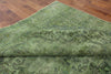 Floral Oriental Green Overdyed Rug 9 X 13 - Golden Nile