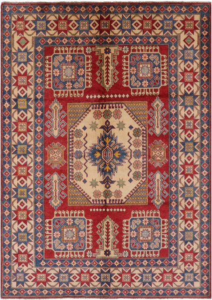"Super Kazak Wool Area Rug - 6' 10"" X 9' 10"" - Golden Nile"