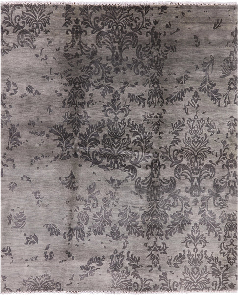 "Modern Hand Knotted Wool Rug - 8' 1"" X 9' 10"" - Golden Nile"