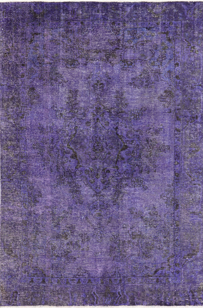6 X 9 Traditional Overdyed Purple Oriental Rug - Golden Nile
