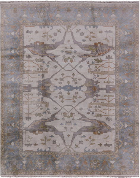 "Oushak Hand Knotted Area Rug - 8' 1"" X 10' - Golden Nile"
