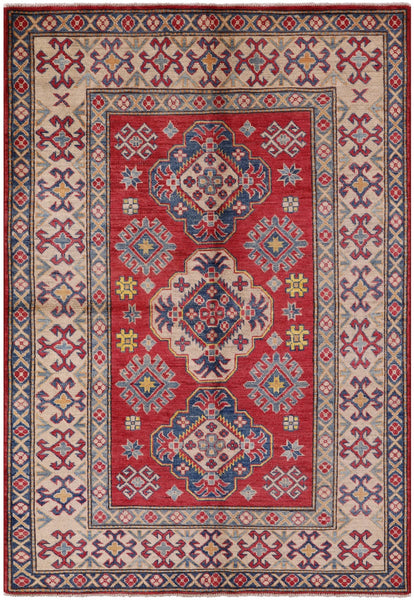 "Kazak Hand Knotted Rug - 5' 1"" X 7' 2"" - Golden Nile"