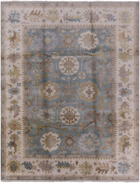 Oushak Oriental 9 X 12 Hand Knotted Rug - Golden Nile