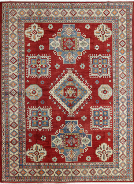 11 X 15 Super Kazak Hand Knotted Oriental Rug - Golden Nile