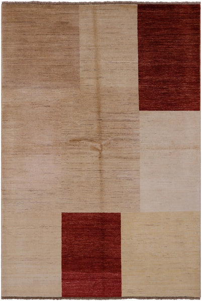 "Gabbeh Hand KNotted Wool Area Rug - 5' 2"" X 7' 10"" - Golden Nile"