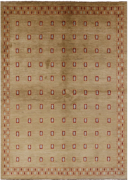 "Gabbeh Wool Area Rug - 6' 7"" X 9' 6"" - Golden Nile"