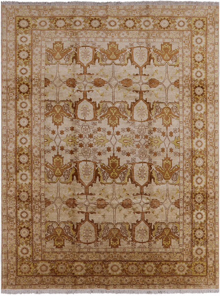Peshawar Hand Knotted Area Rug 9 X 12 - Golden Nile