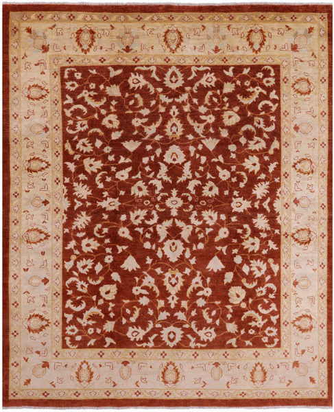 Chobi Hand Knotted Wool Area Rug 8 X 10 - Golden Nile