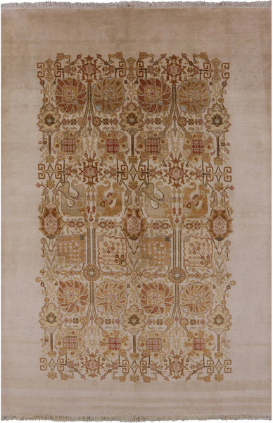 "Peshawar Wool Rug - 6' 1"" X 9' 2"" - Golden Nile"
