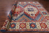 "Kazak Hand Knotted Rug - 9' 7"" X 13' 4"" - Golden Nile"
