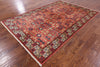 "Persian Fine Serapi Handmade Wool Rug - 5' 10"" X 8' 10"" - Golden Nile"