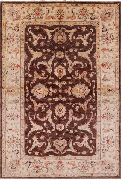 Traditional Peshawar Rug - 6' X 9' - Golden Nile